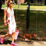 Wearing altuzarrastudio dress loewe clutch adidasoriginals shoes